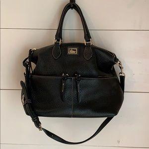 Dooney & Bourke Black Pebbled Leather Satchel